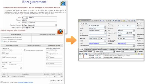 DirectWeb pour ACT! : couplez votre site Web à ACT!